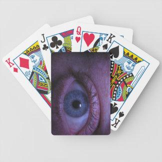 blue eye bicycle poker cards