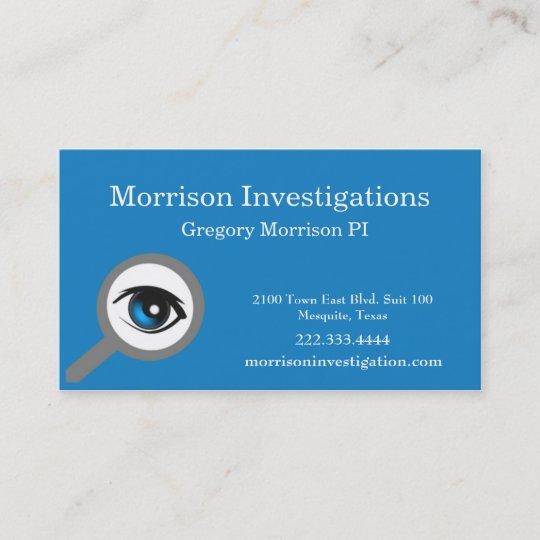 Blue eye private investigation business card zazzle blue eye private investigation business card colourmoves