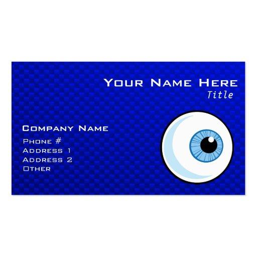 Blue Eyeball Business Card Templates