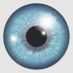 Blue eyeball classic round sticker