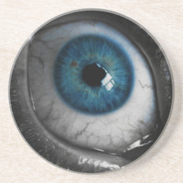 Blue Eyeball Drink Coaster