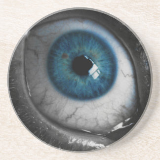 Blue Eyeball Drink Coaster