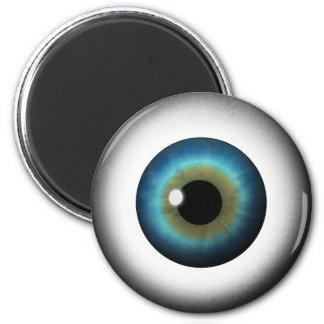 Blue Eyeball Iris Eye Cool Custom Round Magnets Fridge Magnets