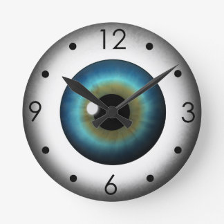 Blue Eyeball Iris Eye Custom Medium Round Clock