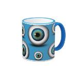 Blue Eyeball Iris Eye Fun Cool Custom Mug Mug