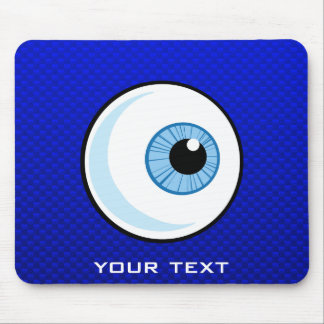 Blue Eyeball Mouse Pad
