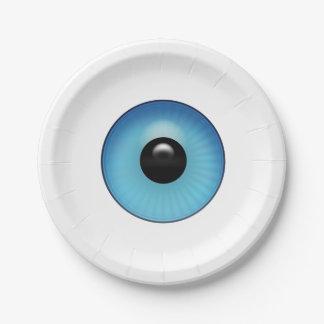 Blue Eyeball Paper Plate