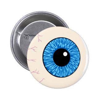 blue eyeball pinback button