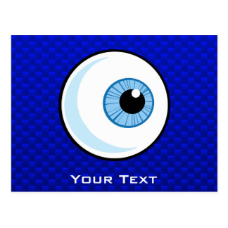 Blue Eyeball Postcard