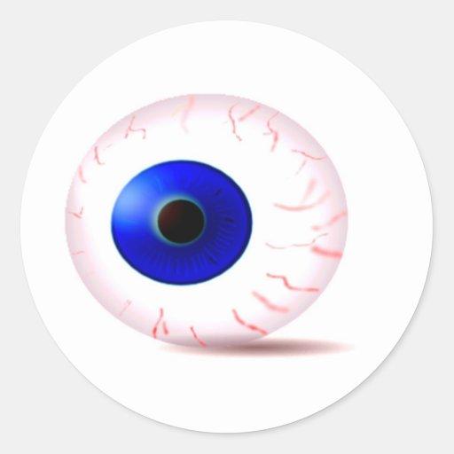 Blue Eyeball Round Sticker