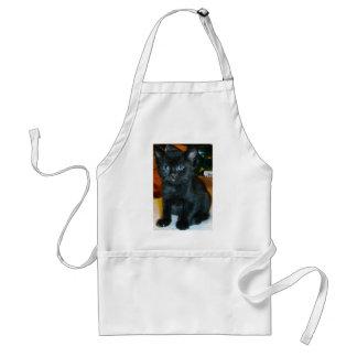 Blue-Eyed Baby Black Kitten Aprons