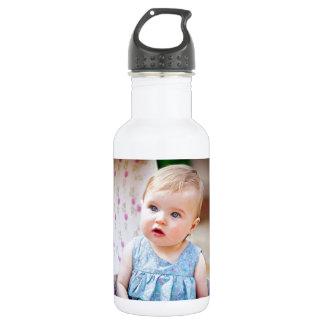 Blue-Eyed Baby Girl 18oz Water Bottle