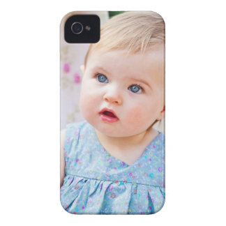 Blue-Eyed Baby Girl iPhone 4 Cover