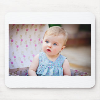 Blue-Eyed Baby Girl Mouse Pad