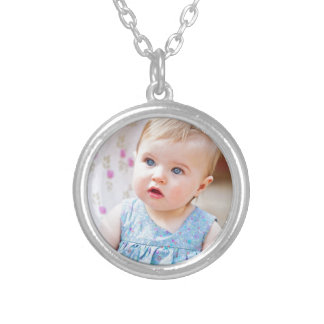 Blue-Eyed Baby Girl Silver Plated Necklace