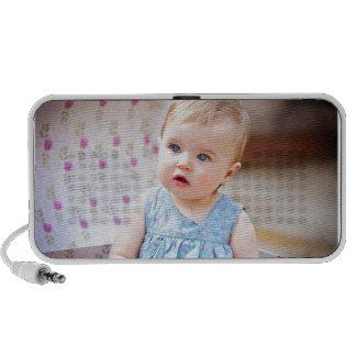 Blue-Eyed Baby Girl Portable Speaker
