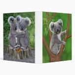 Blue-Eyed Baby Koala Bear 3 Ring Binder