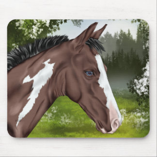 Blue Eyed Bay Paint Horse Foal Mouse Pad