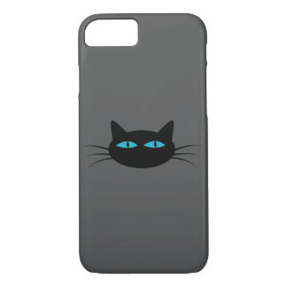 Blue-Eyed Black Cat iPhone 8/7 Case