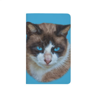 Blue Eyed Brown and White Haughty Cat Journal