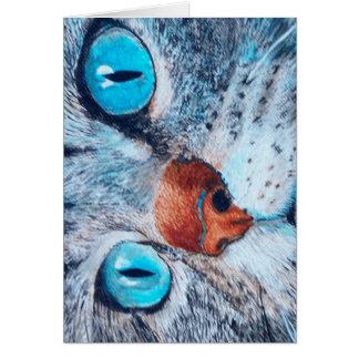 Blue-eyed Cat Card