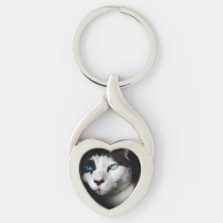 Blue-Eyed Cat Keychain