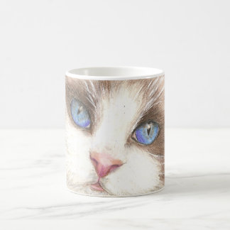 Blue Eyed Cat Mug