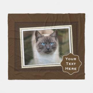 Blue Eyed Cat Photograpy Fleece Blanket