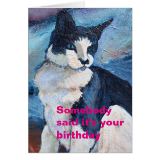 Blue-eyed Cat Template Birthday Card
