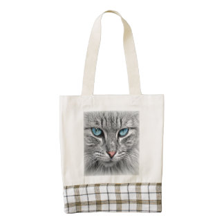 Blue-Eyed Cat Zazzle HEART Tote Bag