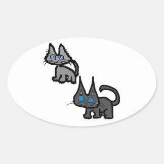 Blue Eyed Cats Sticker