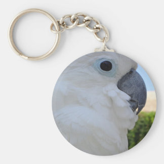Blue Eyed Cockatoo Keychain