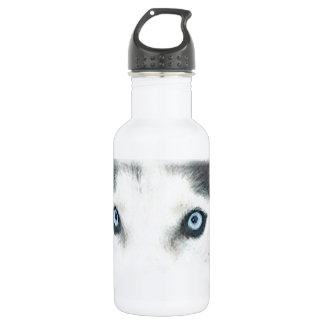 Blue eyed dogs can see the wind 18oz water bottle