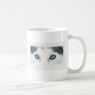 Blue eyed dogs can see the wind classic white coffee mug
