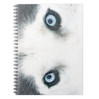 Blue eyed dogs can see the wind spiral notebooks