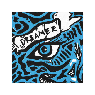 Blue Eyed Dreamer Painting Canvas Print
