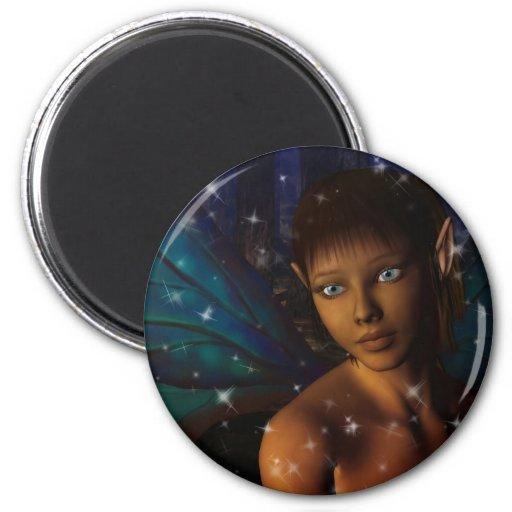 Blue Eyed Faerie 2 Inch Round Magnet
