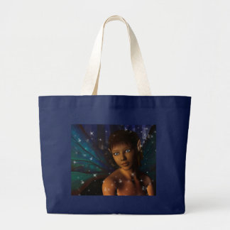 Blue Eyed Faerie Large Tote Bag