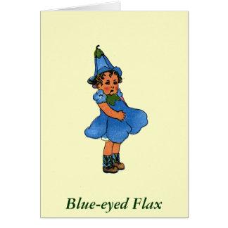 Blue-eyed Flax Card