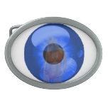 Blue Eyed Girl Oval Belt Buckles