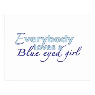 Blue Eyed Girl Postcard