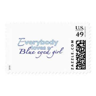 Blue Eyed Girl Stamps