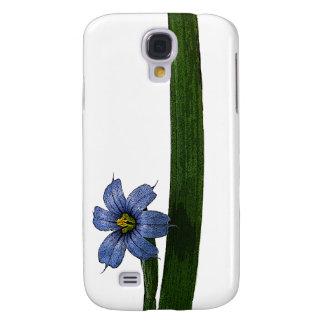 Blue-eyed grass flower and leaf samsung s4 case
