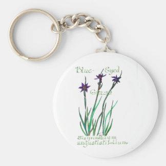 Blue-Eyed Grass Keychain