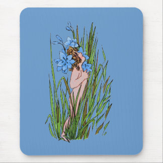 Blue-Eyed Grass Mouse Pad