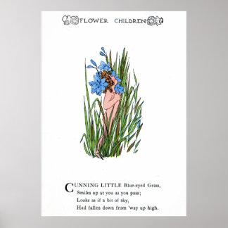 Blue-Eyed Grass Print