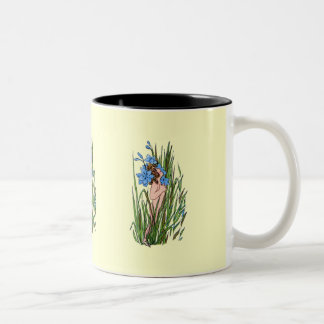 Blue-Eyed Grass Two-Tone Coffee Mug