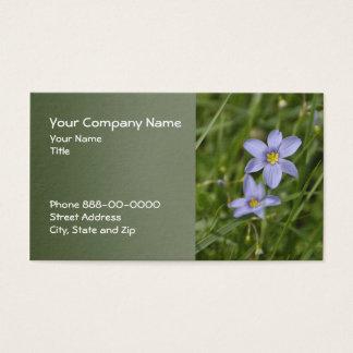 Blue Eyed Grass Wildflower Business Card