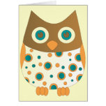 Blue Eyed Hoot Owl Greeting Cards