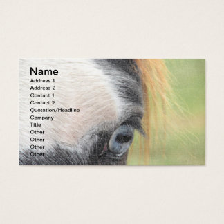 Blue-Eyed Horse Business Card